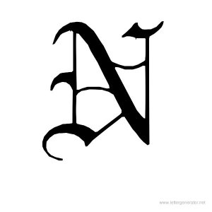 412688-old-english-letter-n